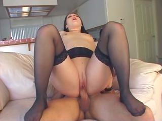 underwear woman enjoys arse