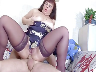 woman into stockings butt fck and sexy elderly in