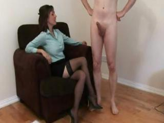 nylons wearing woman jerks a dudes dick