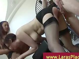 fucker of brunette copulates grownup chick