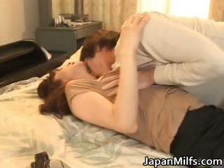 very desperate japanese mature babes licking part1