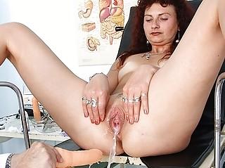 ginger woman cave checkup at horny hospital