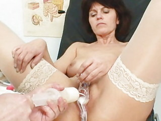 old lady weird speculum pussy examination