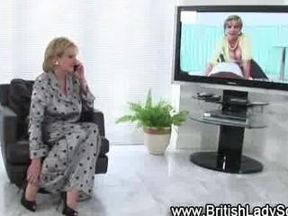 slutty grownup brit into pantyhose