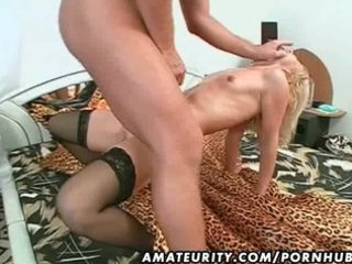 young milf drilled with huge facial cumshot