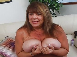 older  momma with super very big bosom sticks