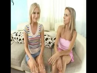 lady and daughter share a cock