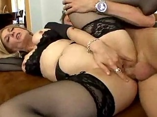 lingerie clad woman worships spreading her feet