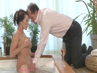 woman couple make worship in a hot bath