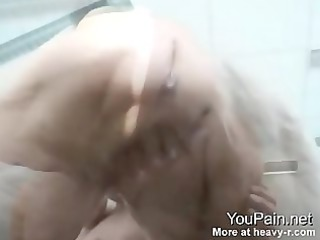 71 years old grandma spurting