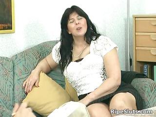divorced bbw lady with big boobs licks part1