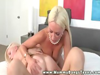 mommy tutors daughter into her sex life