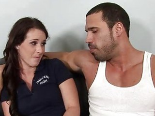 lady drives a older  dick