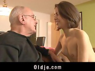 young horny angel acquires laid with an oldje