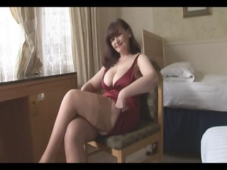 big breast older  panty play and striptease
