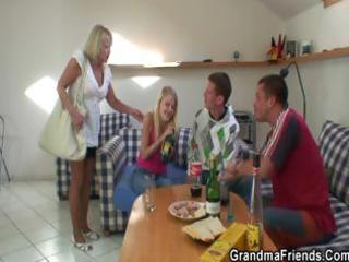 partying guys nail albino grandma