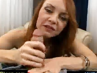 desperate blue haired cougar spoiling a dick
