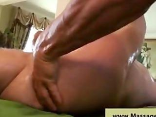 stunning oily anal massage
