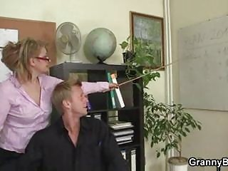 grownup bureau boss forces him drill her uneasy