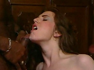 mixed woman kitty gangbanging and fellatio joy