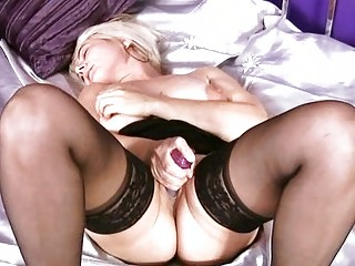grownup blond solo foreplay