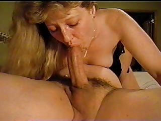 Blowjob with anal stimulation and swallow