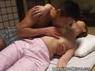 eastern  japanese woman acquires mouth by man