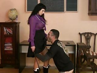 horny woman inside satin straps on a libido