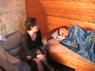 naughty russian mother seduces the youth