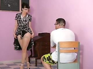 ass tasting hot woman inside pantyhose