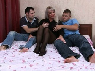 elaine russiane milf gangbanged by two boys