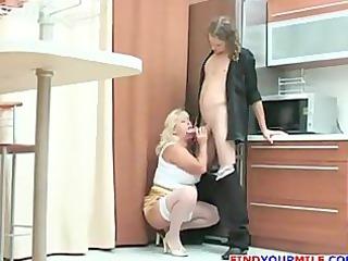 horny naughty lady seduce teenage