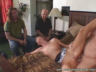 hubby watched her wonderful lady sucked a large