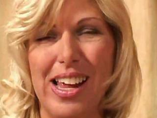 grownup blond enjoys gangbanging with her fishnet