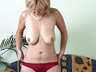 cougar dildoing on the furniture