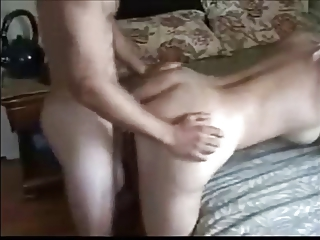 sweet blond woman pleasing arse with more