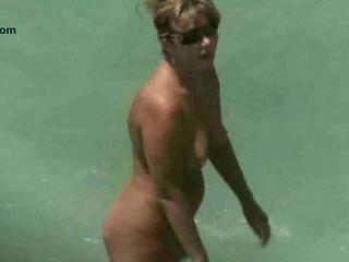 naked sea coast older  voyeur