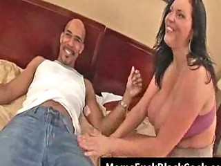 huge tits woman angelica acquires facial from