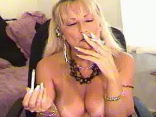 smoking like woman blond
