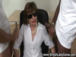 femdom mature super brit obtains white cream