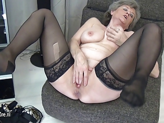 horny grandma masturbate single