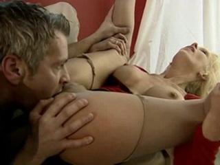 woman enjoys employing feet