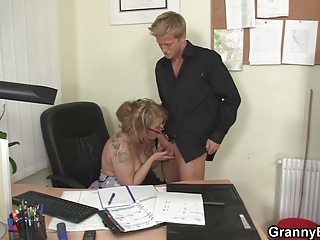 banging with my cougar boss angel