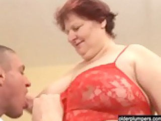 heavy cougar housewife with a large bottom