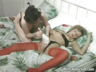 two grownup bitches having dike fuck part1