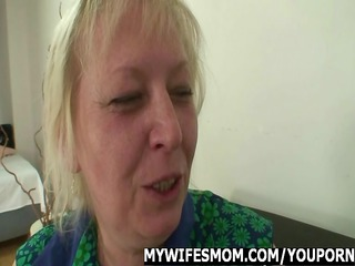 mother into law takes facial