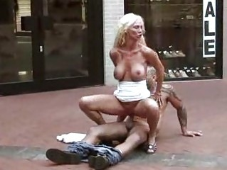 outdoor fuck woman gangbanged at a shoe store