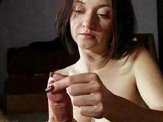 lady lady gives extremely impressive handjobs
