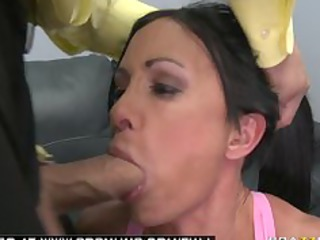 large breast brunette lady fuckstar roughed up by