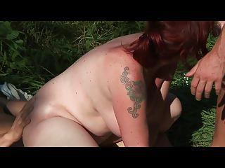 bid chest lady pierced butt by 2 amateur sporty